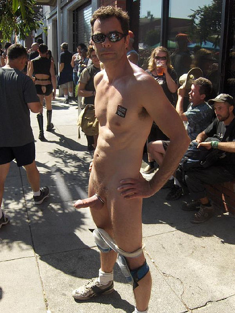 In public boners naked
