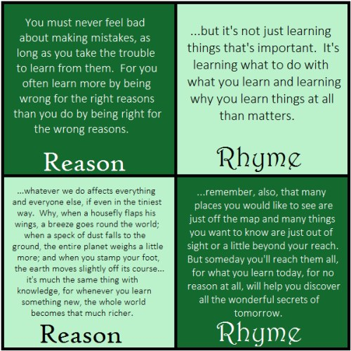 phantom tollbooth rhyme and reason quotes
