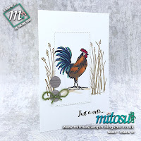 Home To Roost Stampin' Up! Note Card Idea. Order cardmaking products from Mitosu Crafts online shop 24/7