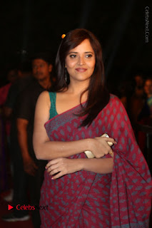 Telugu Television Anchor Anasuya Stills in Saree at Gemini TV Puraskaralu 2016 Event  0068.JPG