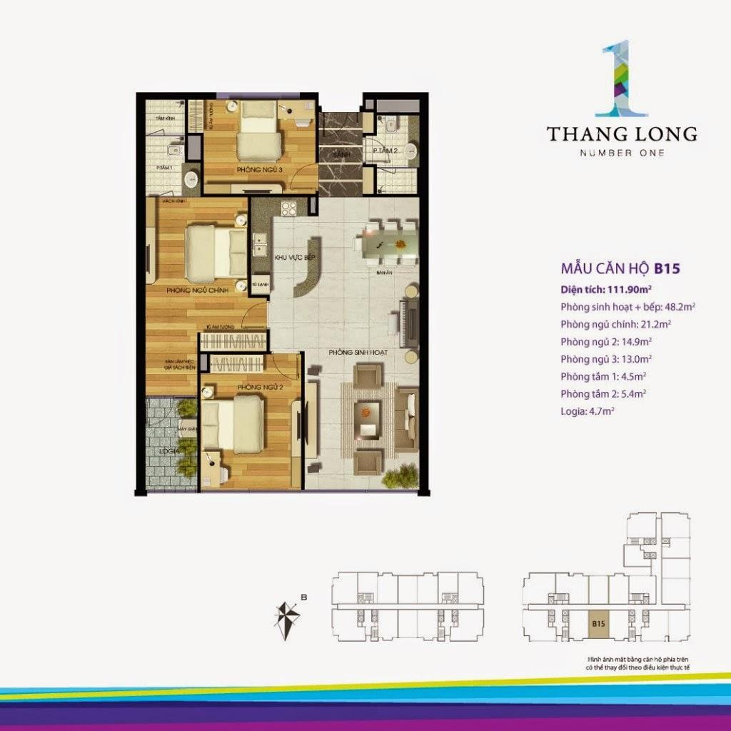 Căn B15- 111,90 m2