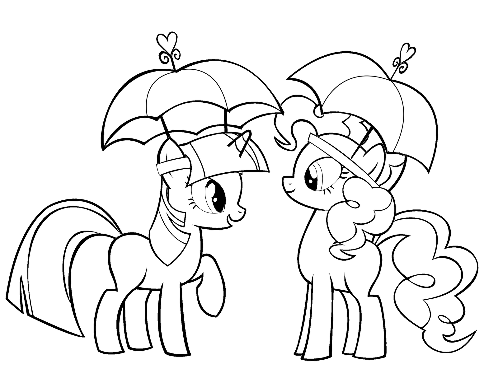 coloring fun! twilight sparkle and pinkie pie