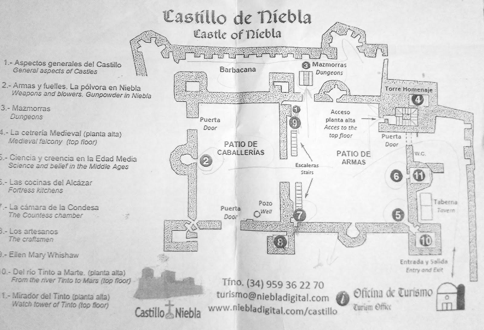 Plano Castillo de Niebla