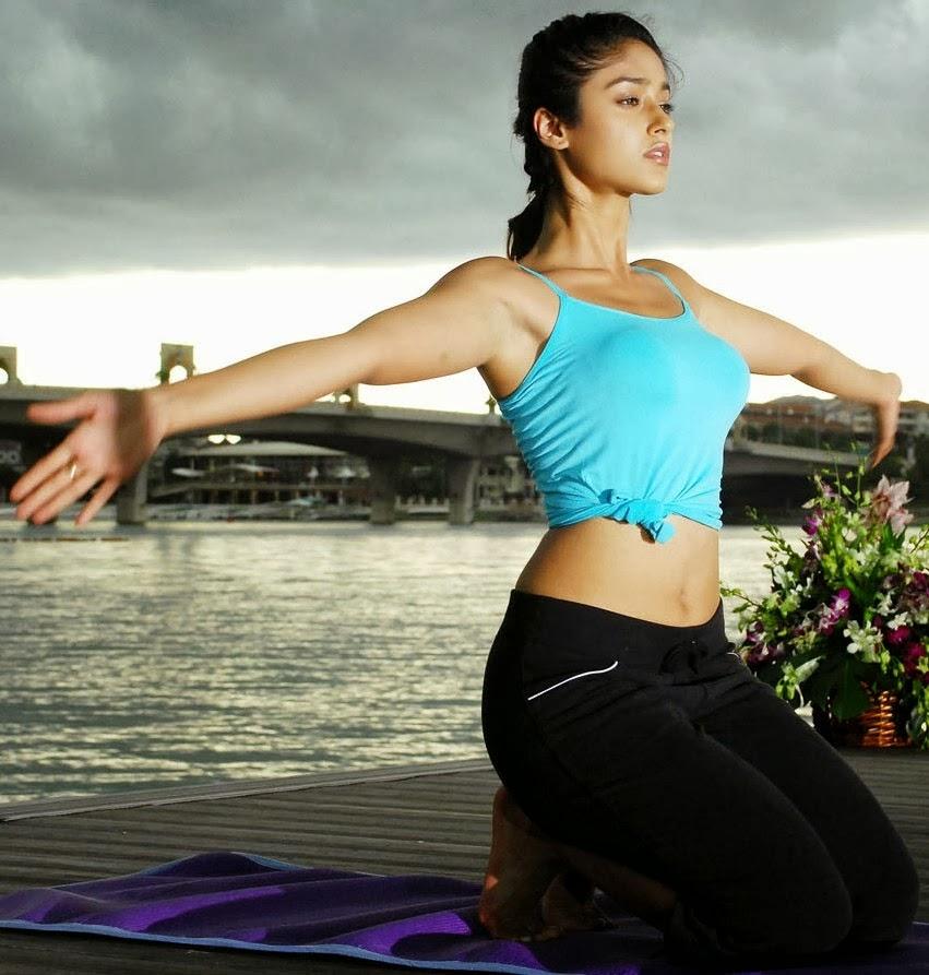 Telugu Actress Ileana Hot Sexy Yoga Photos In Kick Movie