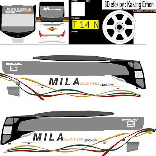 Download Livery Bus Mila Sejahtera