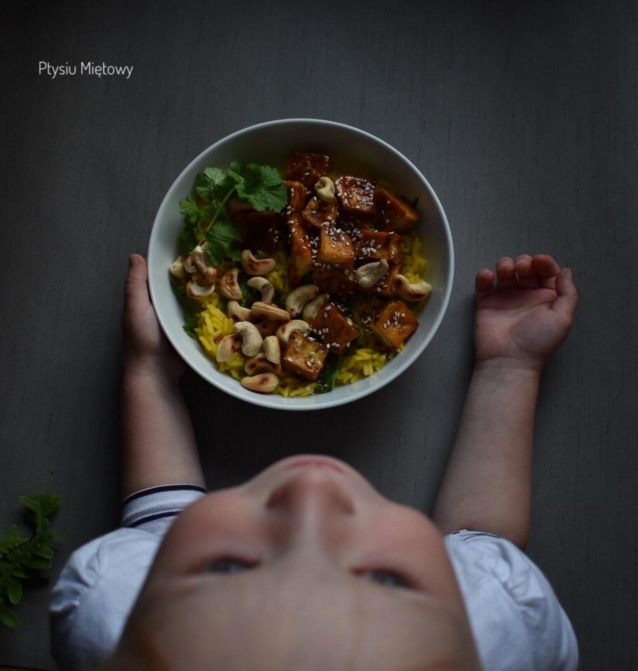 tofu, warzywa, obiad, ptysiu mietowy