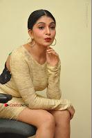 Actress Pooja Roshan Stills in Golden Short Dress at Box Movie Audio Launch  0090.JPG