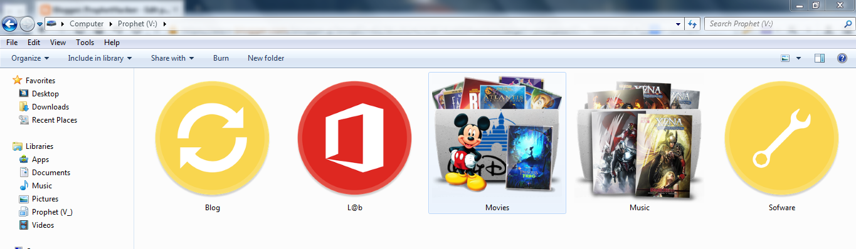 change windows 7 default folder icon