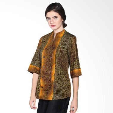 Model Baju Batik Kerja Wanita Modis Modern Terbaru