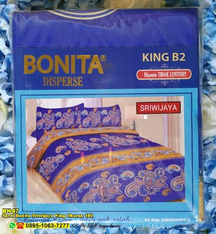 Sprei Bonita Sriwijaya King Ukuran 180