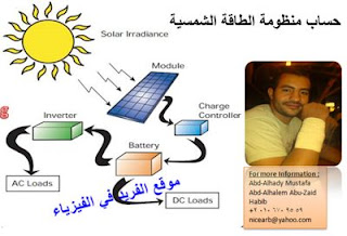 طريقة حسابات توليد الكهرباء من الطاقة الشمسية، برنامج إكسل ـ حساب أحمال وتكاليف وحدات الطاقة الشمسية ، برنامج تصميم أنظمة الطاقة الشمسية ، كيفية عمل وحساب الطاقة الشمسية للمنازل