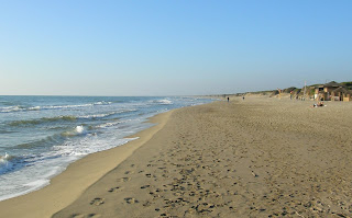 The beach at Copacotta is a rare stretch of unspoilt sand