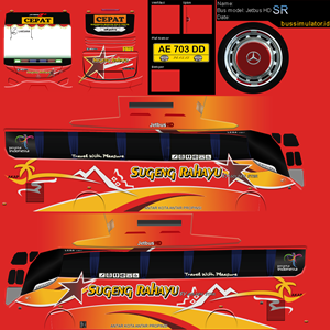 Livery Bussid Sugeng Rahayu Golden Star HD SR