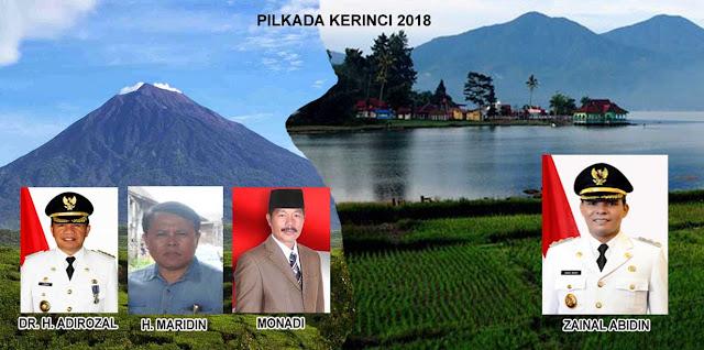 Prediksi Pilkada Kerinci 2018, Andarno : 4 Kandidat Bakal Bertarung, Monadi Calon Terkuat Saat Ini