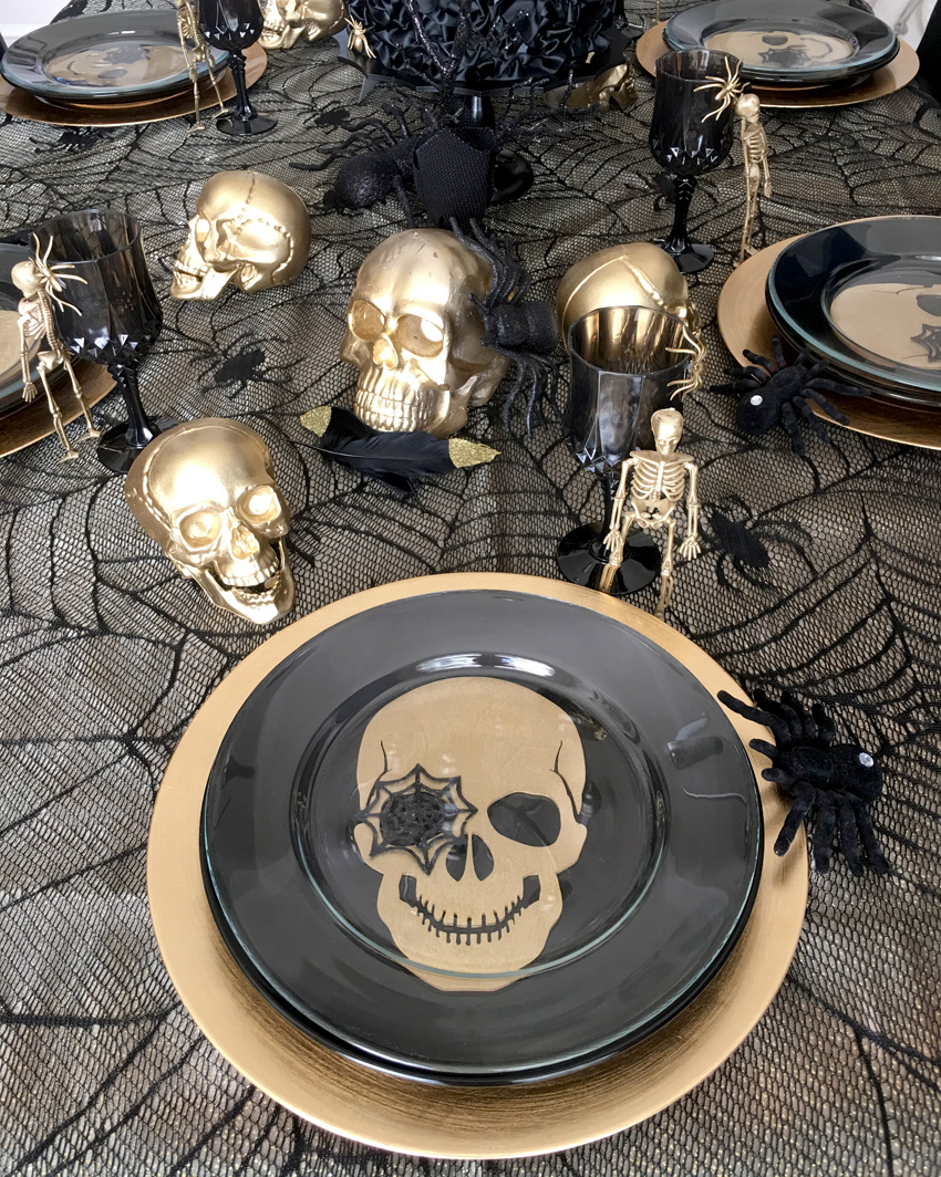 ... Gothic Chic Dinner Party and side dessert table. Looking for more inspiration? Check out all of our Halloween parties right here on the blog and you ... & BellaGrey Designs: Gothic Chic Halloween Dinner Party