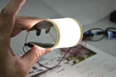 Lampu fleksibel OLED prototype dari LG Chem