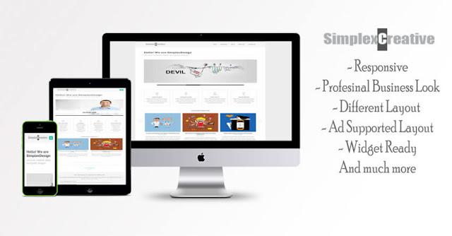 SimplexCreative - шаблон для landing page сайта визитки