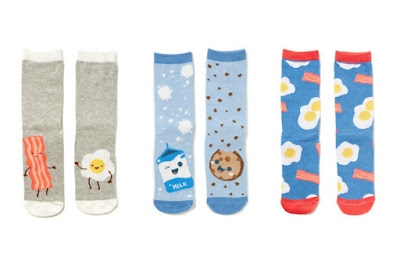 Cute Socks from Cotton On - Egg and Bacon Socks, Milk and Cookies Socks