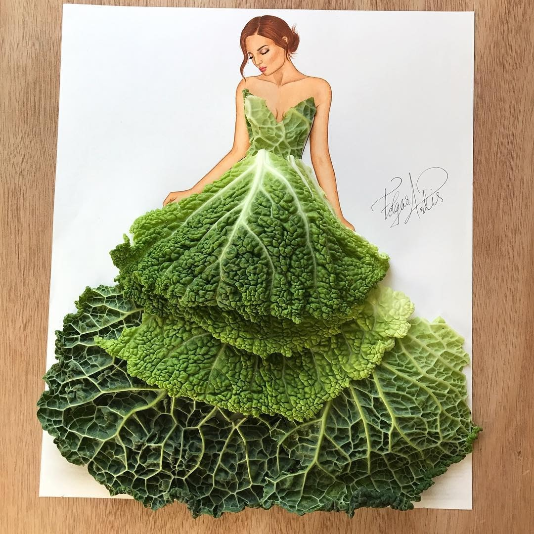 04-Cabbage-Lady-Edgar-Artis-Multimedia-Drawings-and-Food-Art-Dresses-www-designstack-co