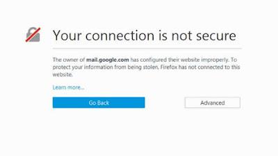 Mengatasi Your Internet Is Not Secure dengan Mudah