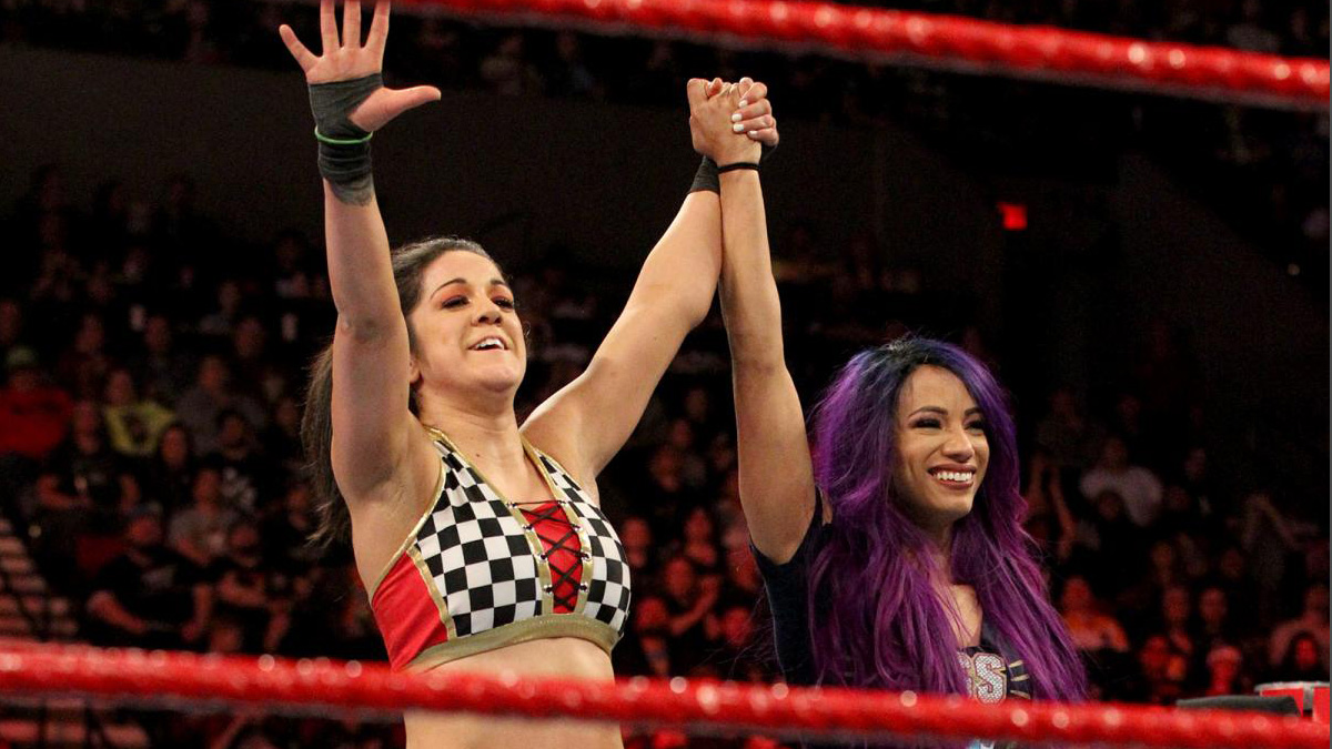 93f7bb5d47ee ... WWE Elimination Chamber match for the Women s Tag Team Championship.  Banks and Bayley defeated Alicia Fox and Nikki Cross on tonight s Raw to  qualify ...
