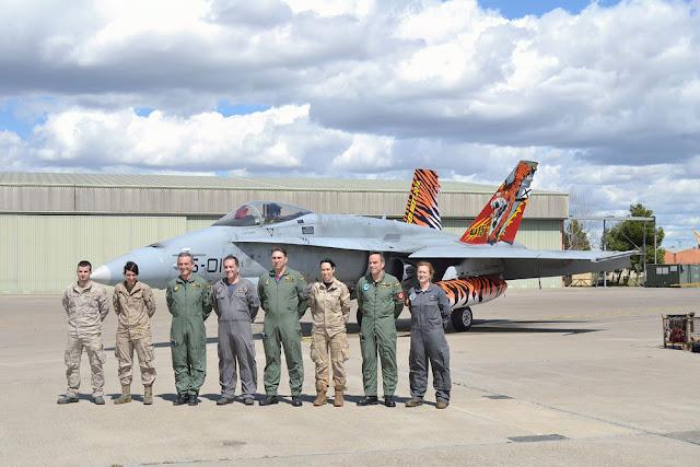 El Ala 15 presenta su F-18 Tigre para el Nato Tiger Meet 2016
