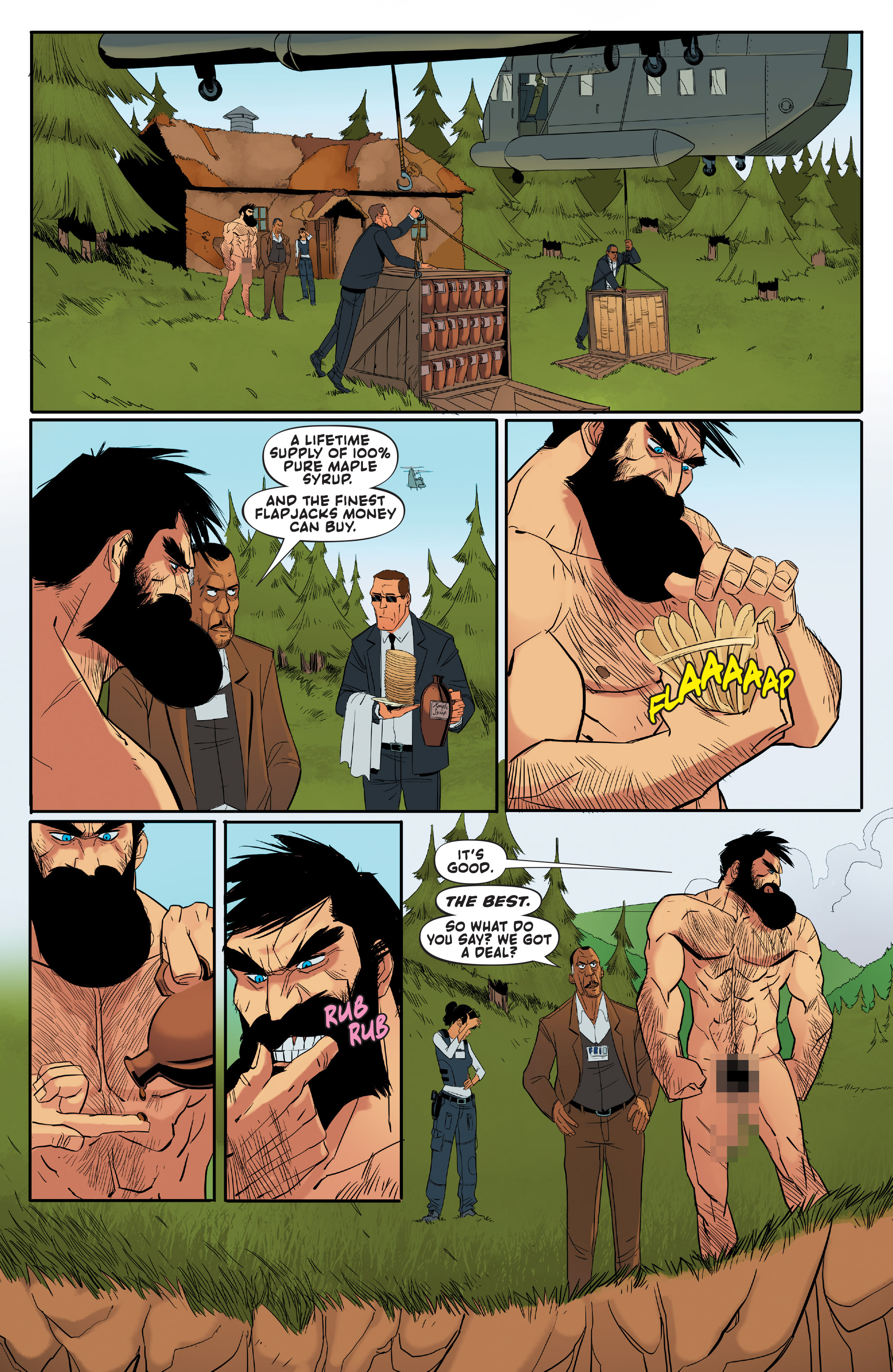Read online Shirtless Bear-Fighter! comic -  Issue #1 - 16