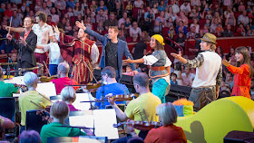 Jessica Cottis conducting the BBC Concert Orchestra at the CBeebies Prom in 2016 (Photo BBC)