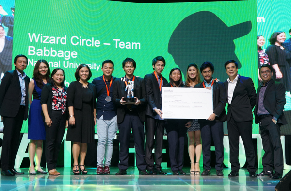 Wizard Circle Team Babbage Accenture Program the Future Overall Champion