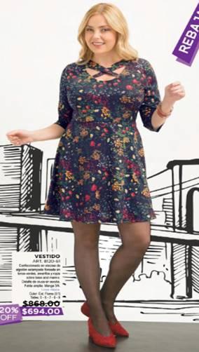 Vestido corto talla grande juana c-8