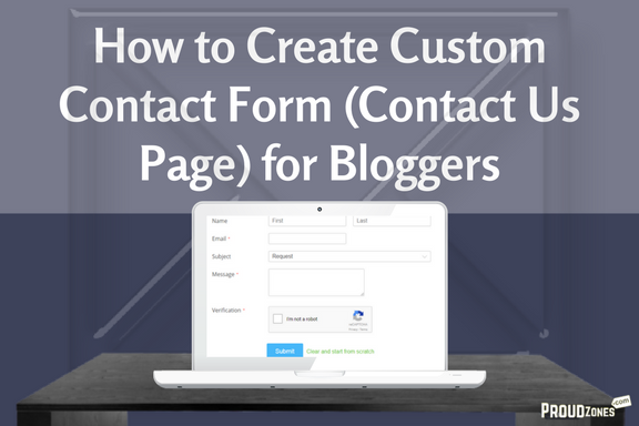 custom contact form for blogger wordpress