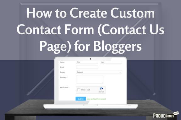 custom contact form for blogger wordpress