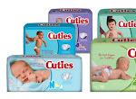 FREE Cuties Diapers Samples
