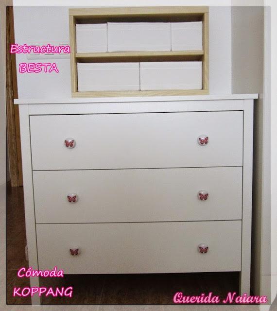 Querida naiara un mini dormitorio de ikea para naiara for Comodas alargadas