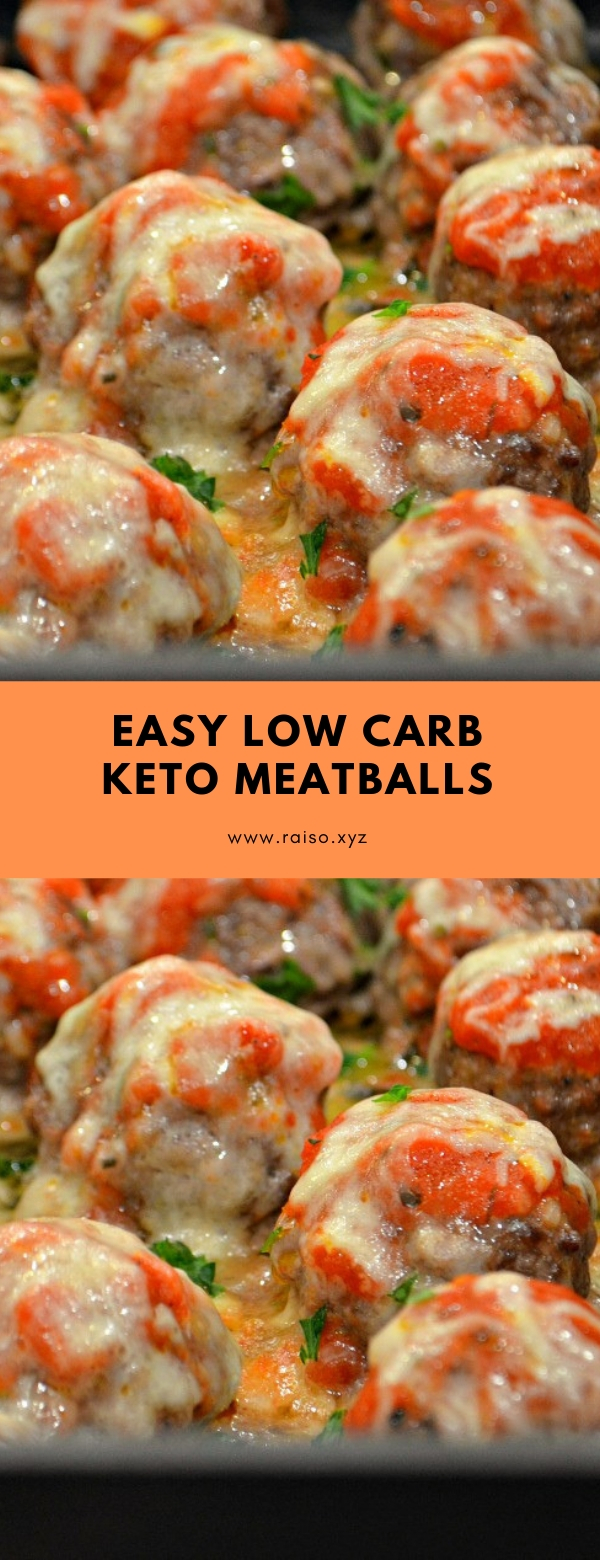 EASY LOW CARB KETO MEATBALLS #keto #meatballs #lowcarb