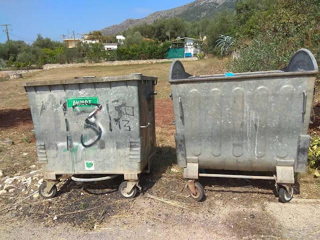 Ηγουμενίτσα: Άμεση παρέμβαση του Αντιδημάρχου καθαριότητας για τους κάδους στην Σκορπιώνα (+ΦΩΤΟ)