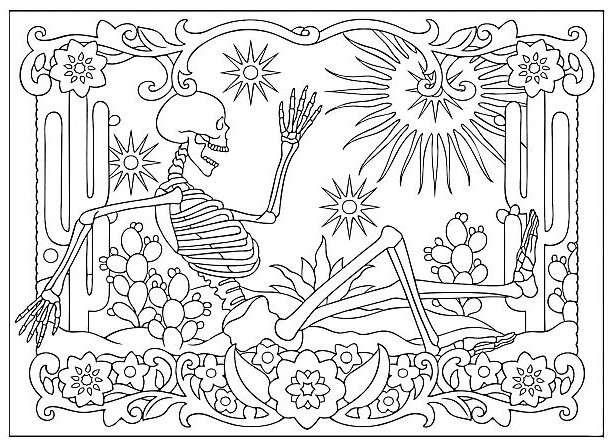 Coloriage Adulte Vegetation.Presentation Livre De Coloriages El Pais De La Paz Esqueletos
