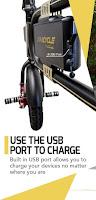USB charging port on SwagCycle E-Bike