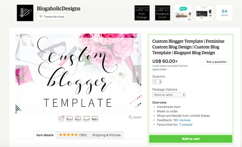 custom blogger design