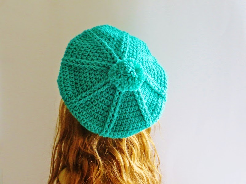 Crochet Hat Pattern For 8 Month Old : Crochet Dreamz: Brittney Beret Crochet Pattern, 3 Months ...