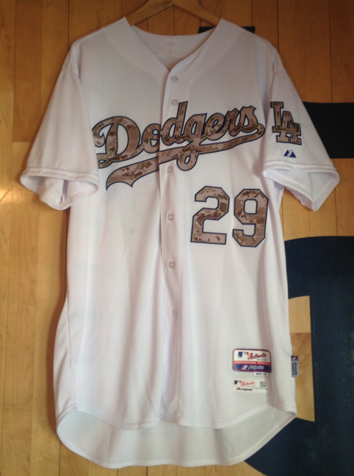 I picked up this jersey from the MLB Auctions site. This is Tim Wallach s