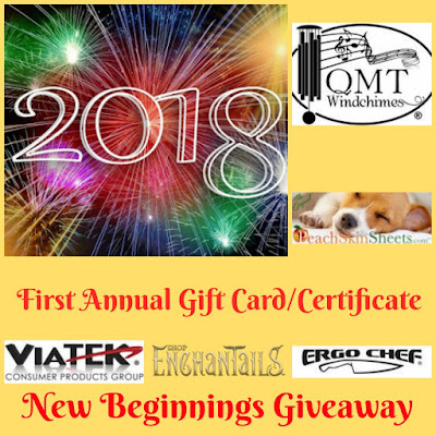 2018 Gift Card/Certificate New Beginnings Giveaway 2/12