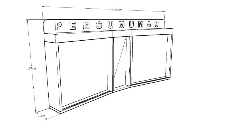Papan Pengumuman dengan Desain Unik  Furniture Kantor
