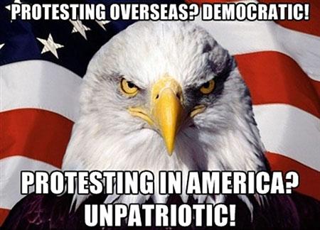 protesting in america