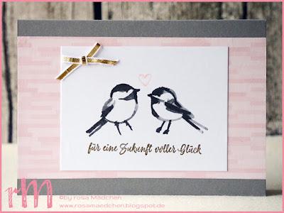 """Stampin' Up! rosa Mädchen Kulmbach: Hochzeitskarte mit Memories and More """"Blütenfantasie"""""""