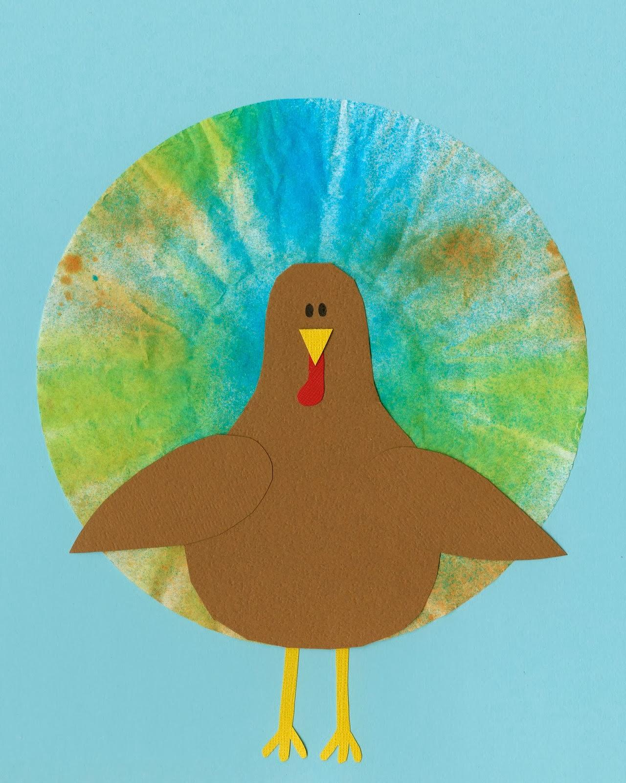 Cindy deRosier: My Creative Life: More Coffee Filter Turkey Art