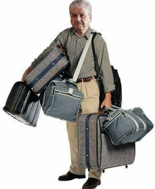 man with travel bag