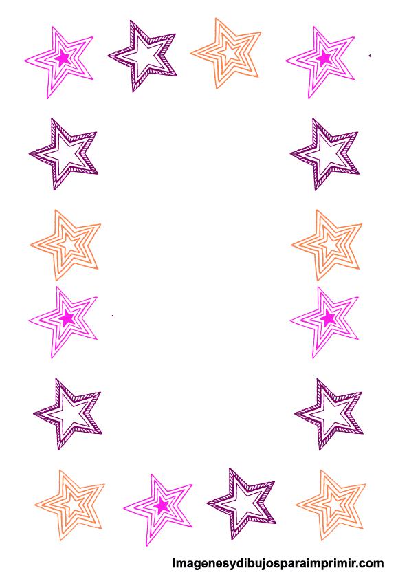 Borde de hoja con estrellas