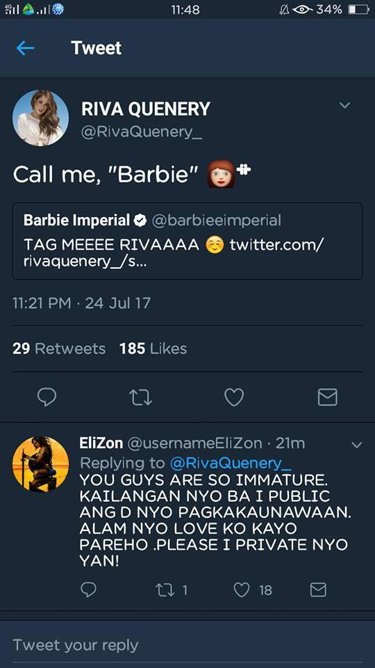 Girltrends BFF Barbie Imperial And Riva Quenery Got Into A Twitter War!