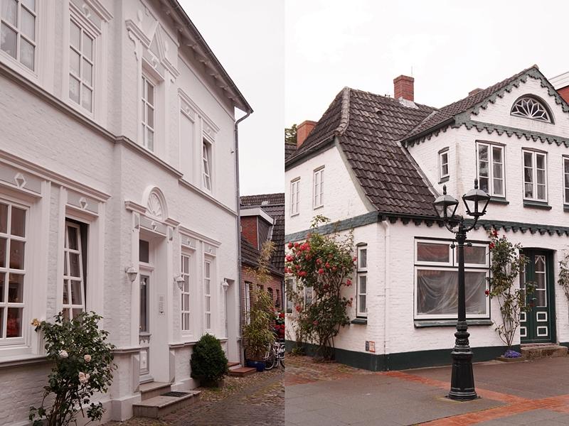Wyk auf Föhr, weiße Häuser
